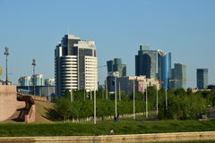 A city view  in Astana / Kazakhstan. In the evening Stock Images