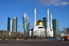 A city view in Astana, Kazakhstan, in winter Royalty Free Stock Photography