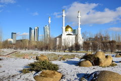 A city view in Astana, Kazakhstan, in winter Royalty Free Stock Image