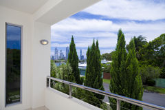 City view from balcony Stock Photo
