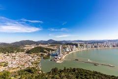 City View of Balneario Camboriu beach. Santa Catarina Stock Images