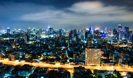 City view at Bangkok Royalty Free Stock Photography