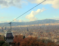 City view of Barcelona. View of Barcelona from Monteijuc hill stock photography