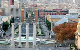 City view of Barcelona Stock Photography