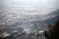 City view of beijing. From west hills Royalty Free Stock Images