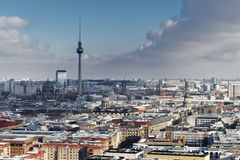 City view Berlin in winter royalty free stock images