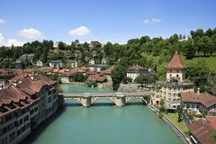 City View of Bern, Switzerland Stock Images