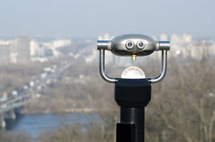 City view binoculars Stock Images