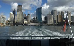 City view from boat stock images