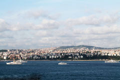 City view. View of the city of Bosphorus Royalty Free Stock Photos