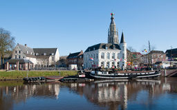 City view of Breda (Netherlands). In the center the Church of Our Lady Royalty Free Stock Photos