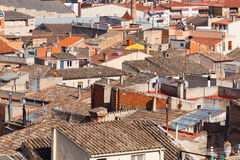 City view of buildings in Spain Royalty Free Stock Image