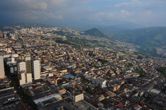 City view from the Cathedral's top, Manizales, Colombia stock photography