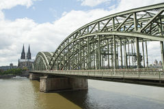 City view of cologne cathedral over the Rhin river Stock Photo