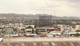City view and construction in Chihuahua Mexico Royalty Free Stock Image
