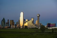 City view of downtown Dallas Texas Royalty Free Stock Photos