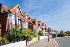 City view Eastbourne, United KIngdom. Mainstreet and houses in Eastbourne, Sussex, United Kingdom Royalty Free Stock Photo