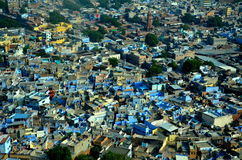 City view. City few. Panorama of blue city, Jodhpur, India royalty free stock photos
