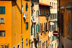 City view of Firenze, Italy. View of facade houses in Firenze, Italy Stock Photos