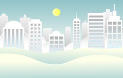 Simple city background royalty free illustration
