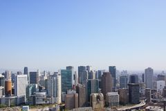 The city view from Umeda Sky Building stock images