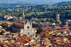 City View of Florence Italy Stock Photos