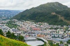 City view from Floyen mountain, Bergen, Norway