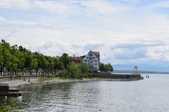City view. Friedrichshafen city at a glance Royalty Free Stock Photos