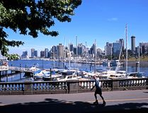City view and harbour, Vancouver. Royalty Free Stock Photos
