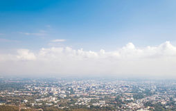 City view with hazy environment in winter, at Chiang Mai, Thailand Stock Photos
