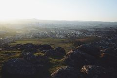 City view on a hill Royalty Free Stock Photo