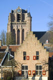 City view with historic Saint John the Baptist Church Stock Image