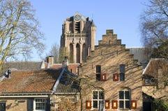 City view with historic Saint John the Baptist Church Royalty Free Stock Image