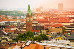 City view with Holy Cross Church in Munich Royalty Free Stock Image