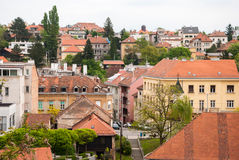City view of houses in Old Town. Zagreb, Croatia Royalty Free Stock Images