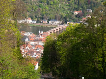 City view from the Königstuhl Royalty Free Stock Images