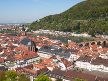 City view from the Königstuhl Royalty Free Stock Photo