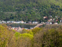 City view from the Königstuhl Royalty Free Stock Photography