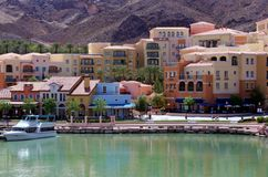 City View of Lake Las Vegas. Luxury and wealth abound in this view of Lake Las Vegas, Nevada royalty free stock images