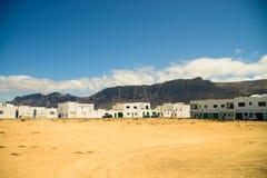 City view at Lanzarote Caleta de Famara Royalty Free Stock Images