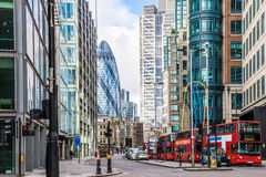 City View of London around Liverpool Street station Royalty Free Stock Photography