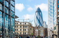 City View of London around Liverpool Street station Royalty Free Stock Image