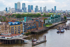 City view of London over river Thames in London, UK Royalty Free Stock Photography
