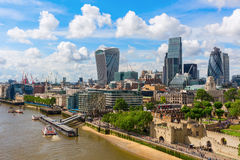 City view of London over river Thames in London, UK Royalty Free Stock Photos
