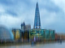 City view of London over river Thames from Tower Bridge Stock Photos
