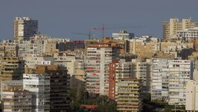 Alicante cityscape with apartment houses, Spain stock footage