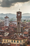 City view of Lucca from the Torre Guinigi Stock Photography