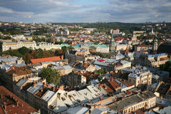 City view of Lvov Royalty Free Stock Photos