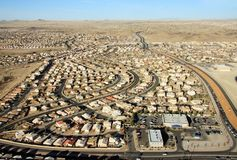 City view from mabove. City view from above , image was taken in NM USA Stock Images