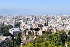 City view of Malaga, Spain royalty free stock photography